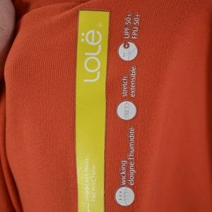 Lole Tops - LOLE UPF 50 wicking stretch orange floral tee